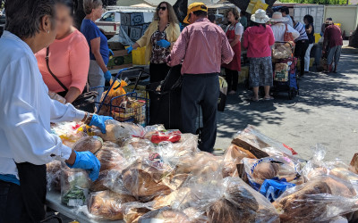 Distributing Food with Faith and Dignity